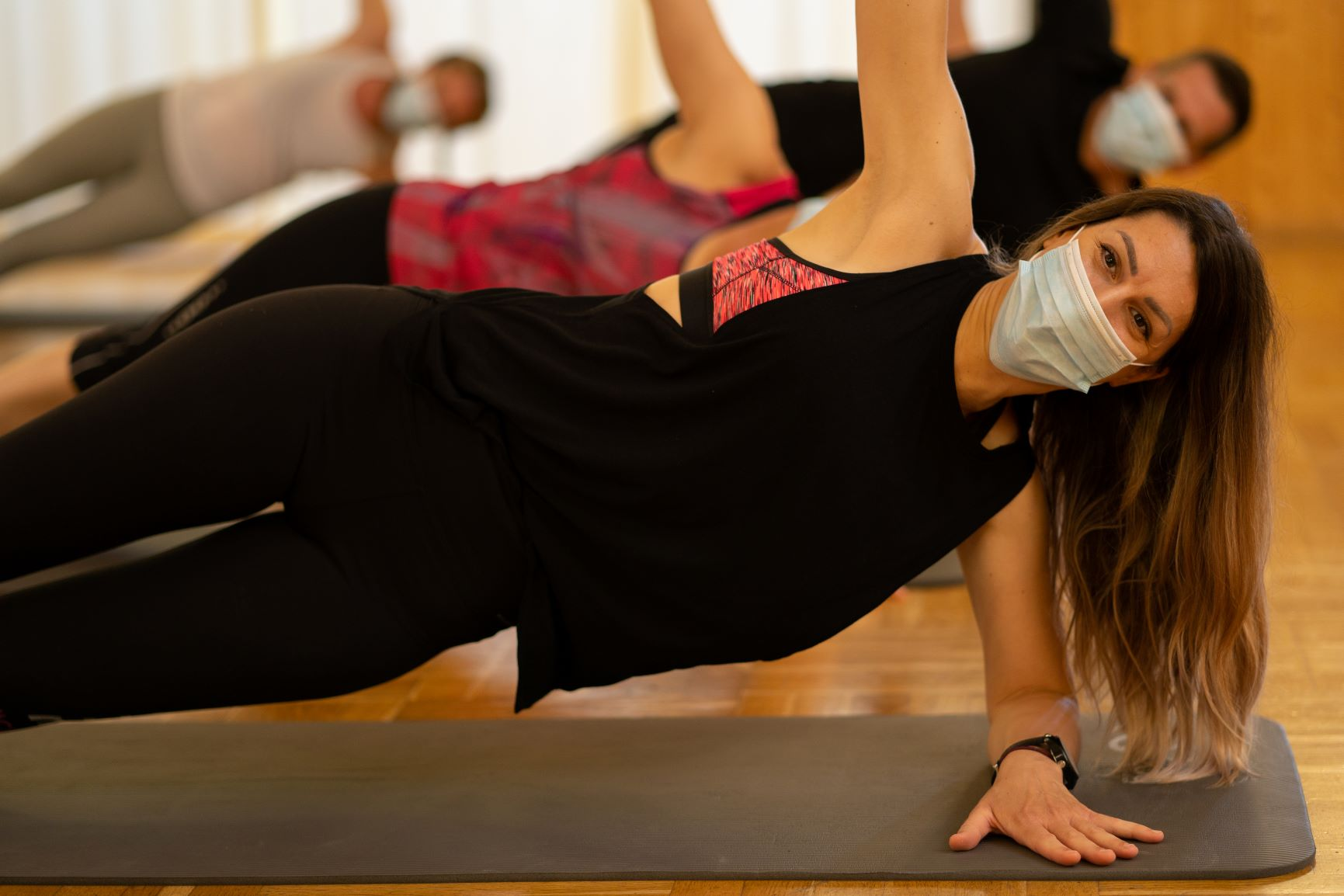 Image result for yoga wearing a mask